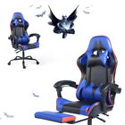 Ergonomic Swivel Gaming Chair Computer Desk Racing Rocker Recliner with Footrest