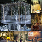 300 Led 3m Fairy Curtain String Lights Wedding Party Room Valentine Decor Prm