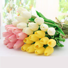 Artificial Tulips Flower Latex Real Touch Bridal Wedding Bouquet Home Decor