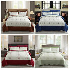 Quilt Set Embroidered  Brushed Microfiber With 2 Shams Bedspread Coverlet Set image
