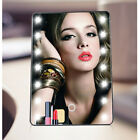 Multifunction Portable Women 16LED Desktop Dimmable Stand Makeup Face Mirrors US