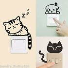 Diy Funny Cute Cat Dog Switch Stickers Wall Stickers Home Decoration Bedroom 34
