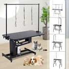 "32""/36""/39""/47"" Adjustable Pet Dog Grooming Table w/ Arm Noose Tray Basket Opt."