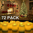 72PCS Flameless Votive Candles Battery Operated Flickering LED Tea Light USA