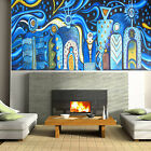 Aboriginal artwork Art Painting Mimi Gods Ocean Sea Blue  by Jane Crawford