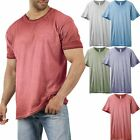 Mens Basic Short Sleeve T Shirts Oil Wash Vintage Soft Faded Crew Neck Tee image