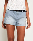 Neue Damen Superdry Almalfi Hot Shorts Indigo Stripes