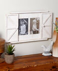 Rustic Barn Door Photo Frames Red White Natural Primitive Picture Country Decor