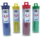 LCR Left Center Right Dice Game Tube - Choice of Red Yellow Blue or Green Chips
