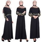 Muslim Women Kaftan Jilbab Maxi Long Dress Cocktail Abaya Dubai Ladies Robe Gown