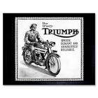 Triumph Motorcycle Vintage Uk Vintage Advertising Retro 12X16 Inch Framed Print €27.49 EUR on eBay