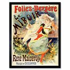 Theatre Stage Folies Bergere Mirror Paris France Vintage Advert Framed Art Print