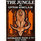 Advert Drawing Book Cover Novel Jungle Upton Sinclair Lion Skull Framed Print