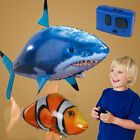 Remote Control Inflatable Balloon Air Swimmer Flying shark Fish Radio Blimp UK