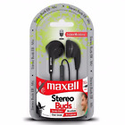 Earbuds Stereo Buds Headphones EB-MIC Maxell Earbud With Mic Free Shipping