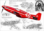 P-51 MUSTANG WWII FIGHTER PLANE CUTAWAY POSTER PRINT 24x 34 inch