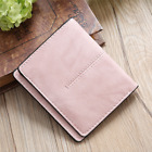 Women Short Folding Wallet Simple Vintage Card Bag Leather Wallet Purse Decor BS