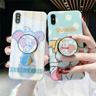 For iPhone 11 Pro XS Max 7 8 Cute Disney polka dot Dumbo Stand Holder phone case £6.85 GBP on eBay