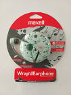 Earbuds In Ear Wrapd With Flat Cable & Mic Headphones Maxell Earphones