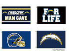 NEW! Los Angeles Chargers Flag 3ft x 5ft Mancave 20+Styles FREE FAST SHIPPING $12.95 USD on eBay