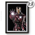 Iron Man Painting Marvel Avengers Infinity Wars 100% Cotton Wall Art Print