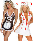 Sexy Lingerie Nurse Maid Costume Women's Outfit Role Play Cosplay Dress Set New