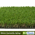 Fremantle Spring 30mm Artificial Grass, C Shaped Realistic Turf Lawn 2m 4m 5m