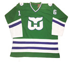 Hartford Whalers 1979 92 Customized Hockey Jersey New England green white 1980s