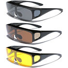 Внешний вид - Large FLIP UP POLARIZED FIT OVER Sunglasses Cover Prescription Rx eyeglasses Men