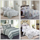 Quilt Set 3 Pieces Brushed Microfiber Printed  Bedspread Coverlet Cover K/Q image