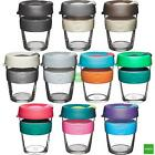 KeepCup Changemakers Brew Reusuable Glass Coffee Cup Travel Mug w/ Silicone Band