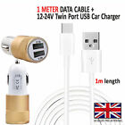 Car Fast Dual Charger PLUS Type C Charging Cable For Huawei Nova 4e