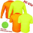 Hi Vis T Shirt Non ANSI Long Sleeve Safety High Visibility Yellow Orange Shirt  image