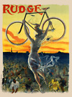 Rudge Vintage Bicycle Poster Print by PAL - Cycling