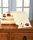 4 Pc. Rosewood Sheet Set F Q K Country Farmhouse Cottage Bedroom Bedding Gift image
