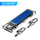 ORICO Transparent USB3.1 Gen2 Type-c M.2 NVME SSD HDD Enclosure For Windows Mac