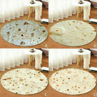 Burrito Wrap Blanket Tortilla Carpet Round Soft Flannel Rug Gift Home Room Decor image