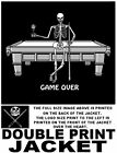 GAME OVER SKELETON POOL PLAYER TABLE MAD BALL CROSSED CUE STICKS LOGO JACKET $56.99 USD on eBay