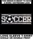 SOCCER BALL MOM DAD FOOTBALL SPORTS GAME FAN PLAYER LONG SLEEVE T-SHIRT 237