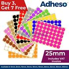Adheso 25mm Coloured Dot Stickers Round Sticky Dots Adhesive Circles Labels