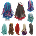 """7 Colors Curly/Straight Long Hair Gradient Wig for 18"""" American Doll Doll Making"""