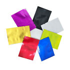 Flat Colorful Vacuum Sealed Pure Aluminum Foil Bags Open Top Mylar Food Storage
