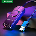 Ugreen USB Sound Card External 3.5mm Microphone Audio Adapter for PS4 Headset PC