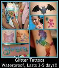 3 PART GLITTER / HENNA TATTOO STENCILS SINGLES - YOU CHOOSE