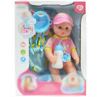 38cm Baby Doll Play Set With Feeding Accessories Milk Bottle Girls Kids Toy New