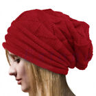 Fold Beanie Slouch Winter Woolly Hat Women Men Ladies Ski Knitted Warm Skull Cap