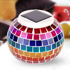 Solar Powered Mosaic Glass Ball LED Garden Light Color Changing Solar Table Lamp