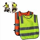 Safety Children Waistcoat Vest Grey Reflective Strips Outdoor Traffic Clothes
