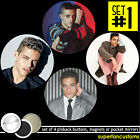 Rami Malek SET OF 4 BUTTONS or MAGNETS or MIRRORS pinback pin james bond #1999 $7.99 USD on eBay