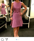NEW$160 White House Black Market Sleeveless BELTED A line dress Warm Violet 6 10